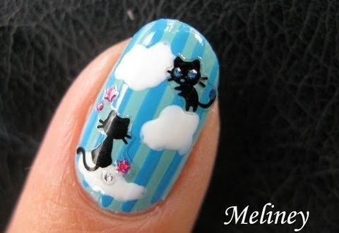 Cute Cat Nails Kitty Heaven Sticker Nail Art Tutorial Dream